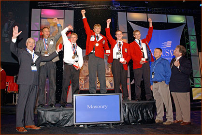 Winners of the 2008 National Masonry Contest at the 44th SkillsUSA National Leadership and Skills Conference