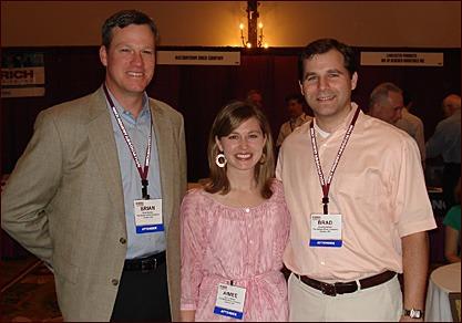 Brian Belden, marketing manager, The Belden Brick Co.; Aimee Belden; and Brad Belden, corporate manager — occupational & regulatory services, The Belden Brick Co.