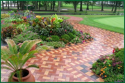 R. Sanchez & Sons was asked to install the mosaic of clay pavers.