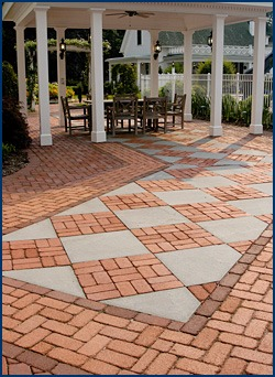 Different-colored Belden Brick pavers designed to work together.