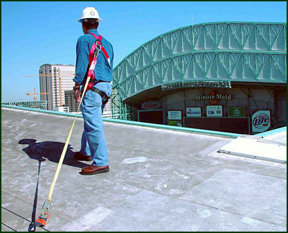 Fall protection is mandatory by OSHA regulations