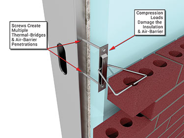 Barrel style versus plate style brick veneer anchors for 1 2 inch brick veneer