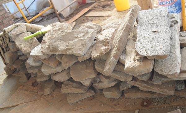 Fig. 1 ??? Manufactured stone veneer.