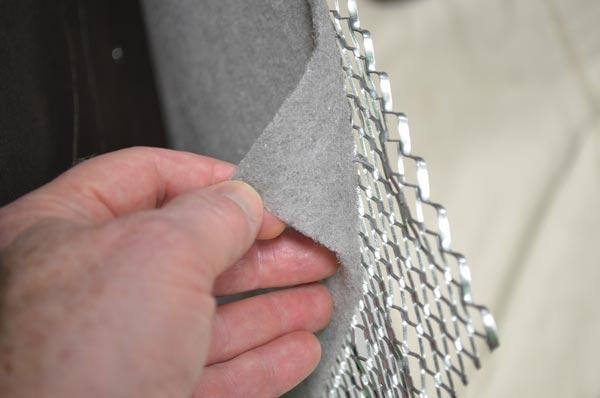 Fig. 2 – Self-furring metal lath with mesh drainage plane.