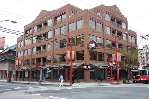 Located in Vancouver, B.C., Canada, the building which now houses Channel M required waterproofing against the damp weather of Canada's West Coast.