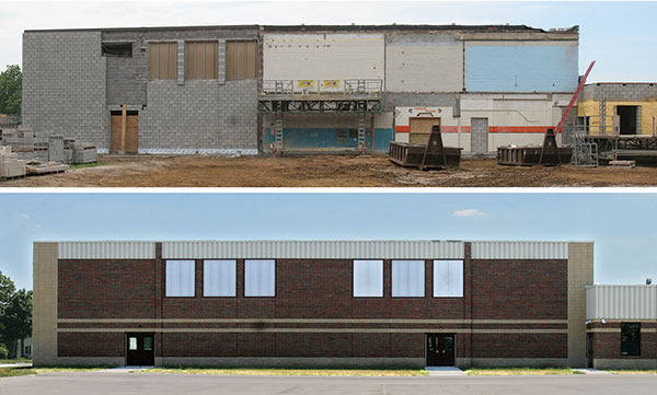 Figure 5 — The remodeled gymnasium was completed and turned over to Homer Community Schools on Oct. 1.