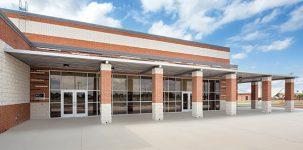 Mercedes High School athletic stadium in Texas