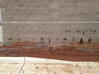 CMU wall weeping excessively due to uncovered walls during construction