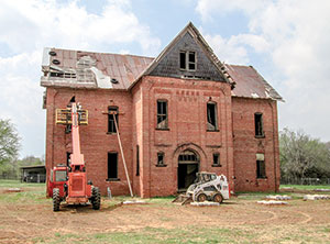 The Burney Institute prior to the restoration work.