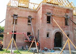 The Burney Institute during restoration.
