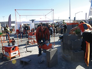 At the 2016 World of Masonry, Franklin Wagner demonstrated a saw from IQ Power Tools that collects nearly 100% of the dust while it cuts.
