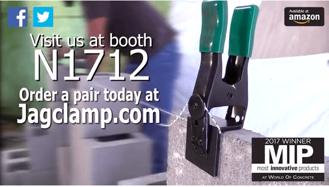 SPONSORED: JagClamp Is Coming To The 2018 World of Concrete